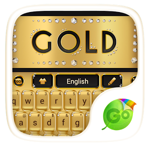 Gold GO Keyboard Theme