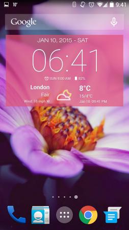 Pogoda & Zegar Widget Android