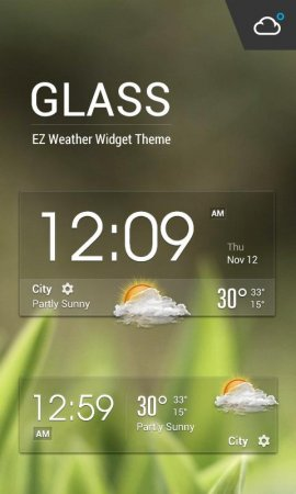 Transparent Glass Weather Widget