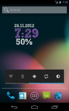 ClockQ - Digital Clock Widget