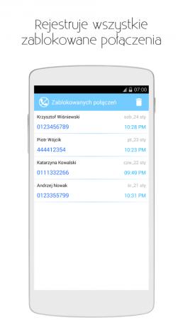 Blokowanie połączeń i SMS