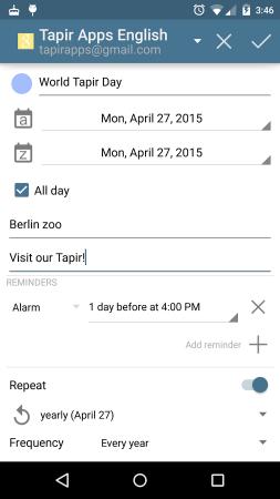 aCalendar - Android Calendar
